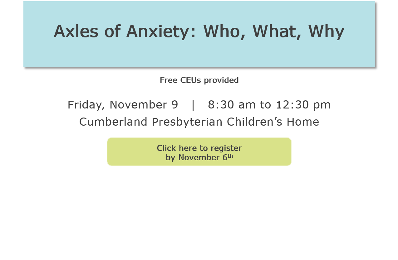 Slider Invite - Axles of Anxiety: Who, What, Why